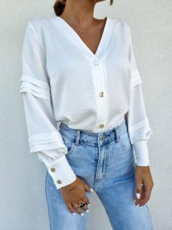 Γυναικεία εντυπωσιακή μπλούζα 5982  άσπρο