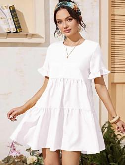 Γυναικείο φόρεμα 5157 άσπρο