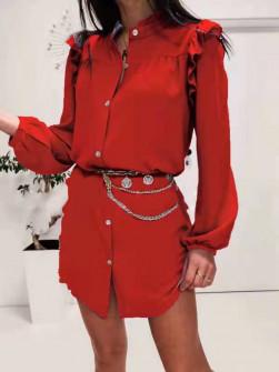 Γυναικεία πουκαμίσα 3458 κόκκινη