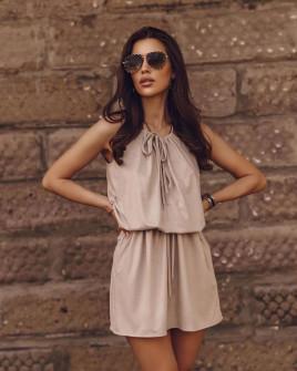 Γυναικείο κοντό φόρεμα 88199 μπεζ