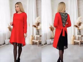 Γυναικείο φόρεμα με εντυπωσιακή πλάτη 5405 κόκκινο