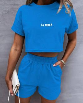 Γυναικείο αθλητικό σετ 8155 μπλε