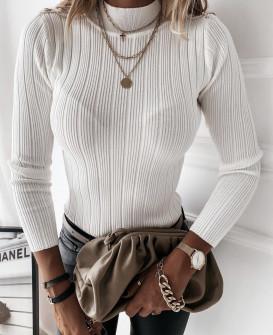 Γυναικεία μπλούζα με χρυσά κουμπιά 4055 άσπρη