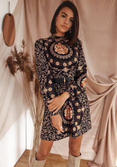 Γυναικείο φόρεμα με ζώνη 533001