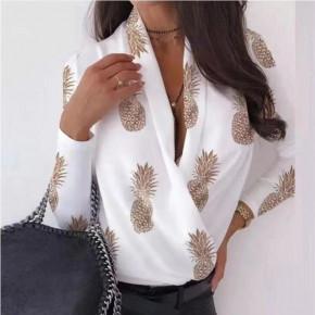 Γυναικεία μπλούζα κρουαζέ 502002 άσπρη