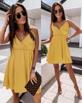 Γυναικείο φόρεμα 5122  κίτρινο