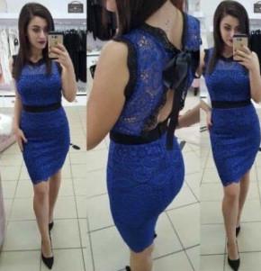 Γυναικείο φόρεμα 2733 μπλε ρουά