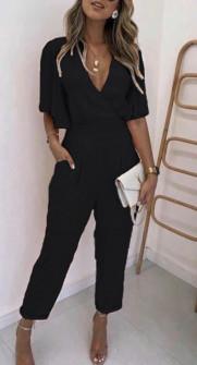 Γυναικεία ολόσωμη φόρμα 1965 μαύρη