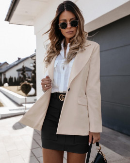 Γυναικείο σακάκι 5256 μπεζ