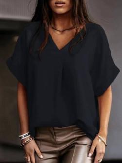 Γυναικεία χαλαρή μπλούζα 5597 μαύρη