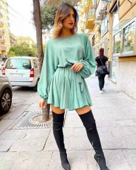 Γυναικείο χαλαρό φόρεμα 3469 μέντα