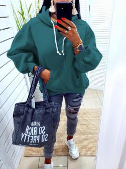 Γυναικείο φούτερ 10555 πράσινο