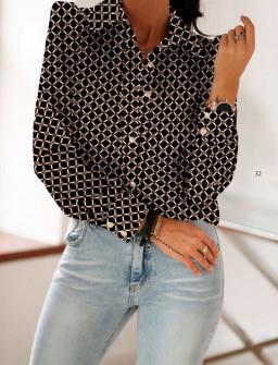 Γυναικείο πουκάμισο 398401 μαύρο