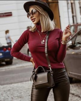 Γυναικεία μπλούζα ζιβάγκο 600901 μπορντό