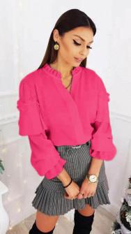 Γυναικεία μπλούζα με εντυπωσιακό μανίκι 3959 φούξια