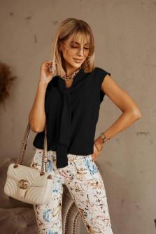 Γυναικεία στιλάτη αμάνικη μπλούζα 80908 μαύρη