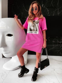 Γυναικείο μπλουζοφόρεμα 14568 φούξια