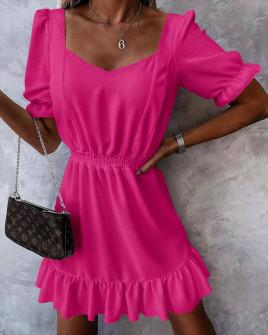 Γυναικείο χαλαρό φόρεμα 5712 φούξια
