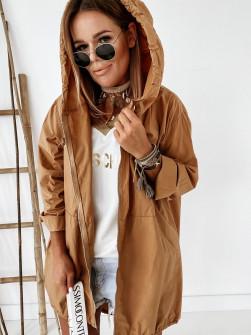Γυναικείο μπουφάν με φερμουάρ 9197 καμηλο