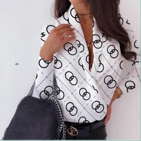 Γυναικεία μπλούζα κρουαζέ 502006 άσπρη
