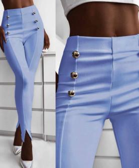 Γυναικείο παντελόνι με σκισίματα 5517 γαλάζιο