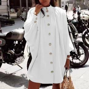 Γυναικείο χαλαρό μπλουζοφόρεμα 3457 άσπρο
