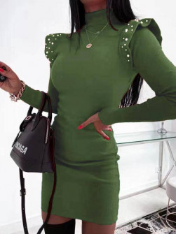 Φόρεμα με πέρλες 5443 πράσινο