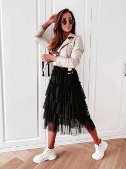 Γυναικεία τούλινη φούστα 5485 μαύρη