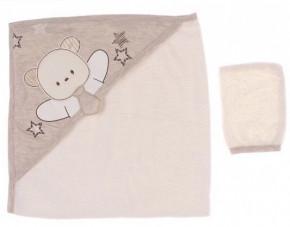 Βρεφική πετσέτα 50515167 μπεζ
