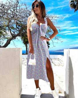 Γυναικείο φόρεμα με σκίσιμο 629403