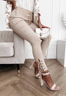 Γυναικείο εντυπωσιακό παντελόνι 4698 μπεζ