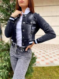 Γυναικείο τζιν μπουφάν 209110