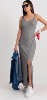Γυναικείο μακρύ φόρεμα 13508 γκρι