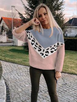 Γυναικείο πουλόβερ 71006 ροζ