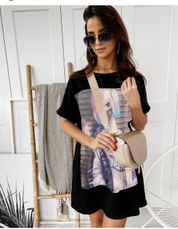 Γυναικείο μπλουζοφόρεμα με στάμπα 215610