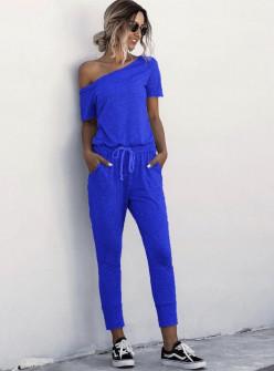 Γυναικεία αθλητική ολόσωμη φόρμα 2367 μπλε