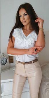 Γυναικεία μπλούζα με βαθύ ντεκολτέ 32941 άσπρη