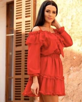 Γυναικείο φόρεμα 2011 κόκκινο