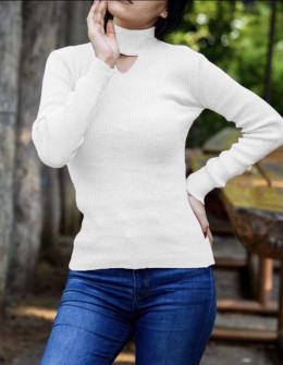 Γυναικεία μπλούζα ημιζιβάγκο 81025 εκρού
