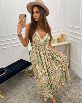 Γυναικείο φόρεμα φλοράλ 555701