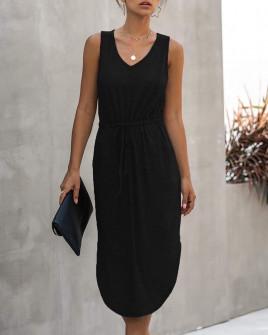 Γυναικείο μίντι φόρεμα 2386 μαύρο