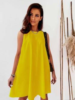 Γυναικείο χαλαρό φόρεμα 5748 κίτρινο