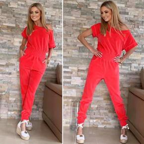 Γυναικεία ολόσωμη φόρμα 2193 κόκκινη
