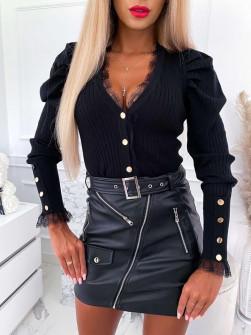 Γυναικεία εντυπωσιακή μπλούζα 0861 μαύρη
