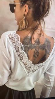 Γυναικεία μπλούζα με εντυπωσιακή πλάτη 5370 άσπρη