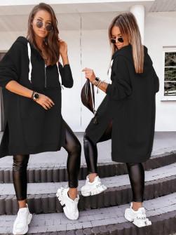 Γυναικείο σουέτ μπλουζοφόρεμα 20880 μαύρο