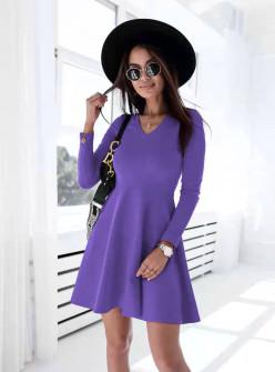 Γυναικείο εντυπωσιακό φόρεμα 60391λιλά