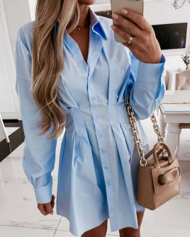 Γυναικείο πουκάμισο 6900 γαλάζιο