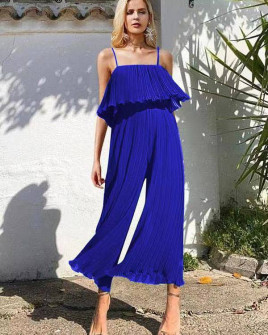 Γυναικεία ολόσωμη φόρμα σολέιγ 27918 μπλε