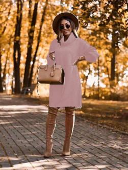 Μπλουζοφόρεμα ζιβάγκο 2690 ροζ